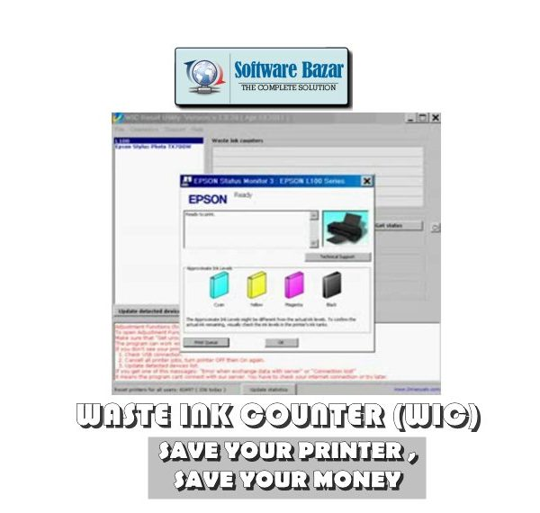 WASTE INK COUNTER - WIC - RESET PRINTER KEY
